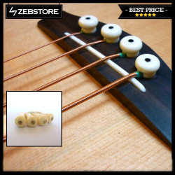 Paku Gitar Pin Bridge Bass Premium Gold Flash Ivory 4Pcs