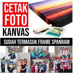 Cetak Foto Kanvas/Canvas Photo Print Plus Spanram 40 x 60cm