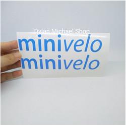Cutting Sticker Frame Sepeda Minivelo 2 Stiker Motor Mobil Helm Laptop