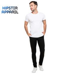 Hipster celana chino panjang warna hitam