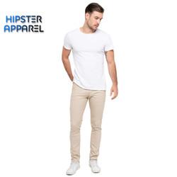 Hipster celana panjang chino warna cream/ivory