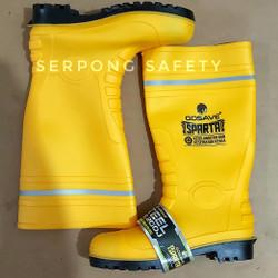 Sepatu Boots Gosave Sparta Kuning Ujung Besi size 41 Safety