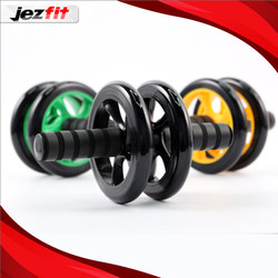AB WHEEL - Ab roller double wheel with Mat Knee Alat sit up alat gym
