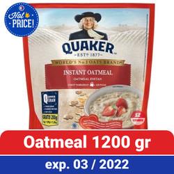 Quaker Instant Oatmeal 1.2 Kg - Oat Instan Quaker