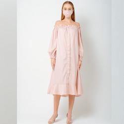ATELIER MODE Loungewea Offshoulder Thea Dress Wanita