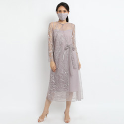 ATELIER MODE Cocktail Dress Embroidered Wrap Dress Elora Dress Wanita