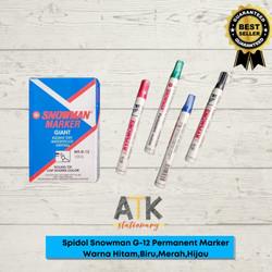 Spidol Permanent Marker G-12 Snowman atk