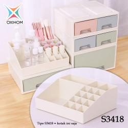 Oxihom S431 Laci Plastik Susun Kosmetik Serbaguna Drawer Storage Stack - S3418 Krem