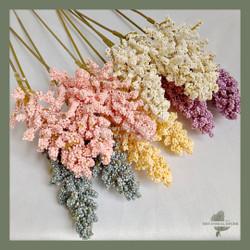 Artificial Japanese Skimmia Flower Bunga Tangkai Palsu Plastik Buatan - CREAM WHITE