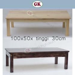 Meja lesehan kayu jati Belanda ukuran 100