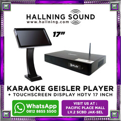 "Karaoke Geisler Player + Touchscreen Display HDTV 17"""