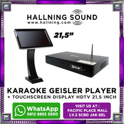 "Karaoke Geisler Player + Touchscreen Display HDTV 21,5"""