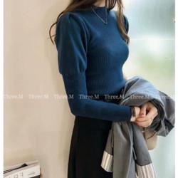 Nicole Knit Lengan Panjang Import TM 1943 - Biru