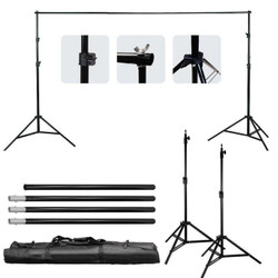Background stand 2 x 3 meter / Bracket Stand 3m Backdrop Foto Studio - Tanpa Backdrop