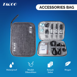 TACOO Gadget Organizer Tas Travel Elektronik Waterproof Multifungsi