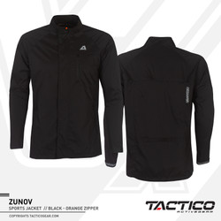 jaket olahraga lari jogging /sepeda ZUNOV BLACK