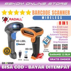 Wireless Barcode Scanner 2D QR Code Radall With Storage *PROMO - RD-S8