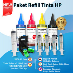 Paket Refill Tinta Printer HP Refill 802 803 680 60 61 703 704 678 46