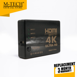 HDMI SWITCH 3 PORT SUPPORT 4K ULTRA HD WITH REMOTE / HDMI SWITCHER