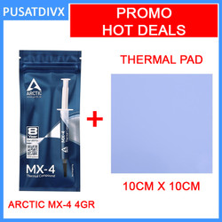 Promo Arctic MX-4 4g & Thermal Pad 10cm x 10cm x 1mm Thermal Paste - TEBAL 1MM
