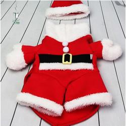 Kostum Santa Claus untuk Anjing/ Baju Anjing Tema Natal