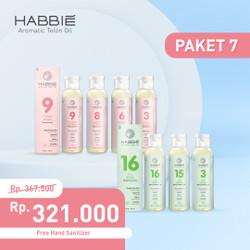 Habbie Aromatic Telon Oil - Paket Negara 7 botol TEA & FLOWER series