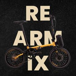 Sepeda Lipat 16 Inch AVAND Re Arm IX Chromoly 9 Speed Hidrolik - Red-Chrome