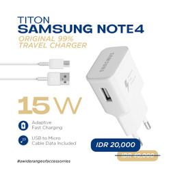 Titon Samsung Note 4 Original 99% Travel Charger Micro