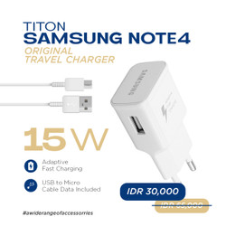 Titon Samsung Note 4 Original 100% Travel Charger Micro