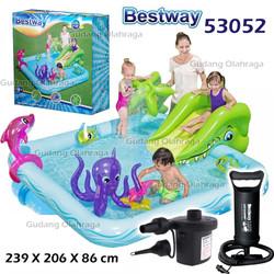 Kolam Renang Anak Bestway 53052 Perosotan Fantastic Aquarium Play Pool - Kolam Saja
