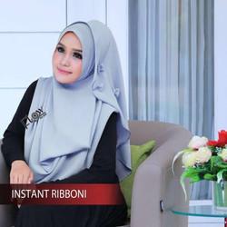 Jilbab Hijab Kerudung Instan Ribboni Pasmina Instan Bergo Riboni Flow