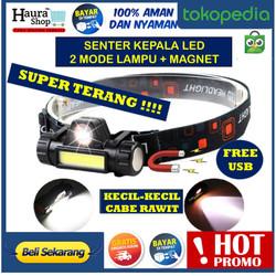 Senter Kepala COB LED Rechargeable / HEADLAMP SOROT