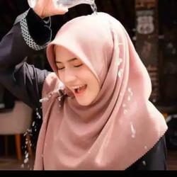 Jilbab Hijab Kerudung Segiempat Voal Miracle Waterproof Polos Terbaru