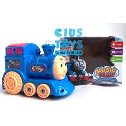 Mainan Music Train Kereta Baterai Lampu dan Musik