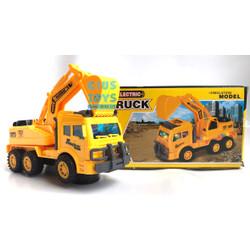 Mainan Mobil Excavator Lampu dan Musik   Beko Baterai Bump n go