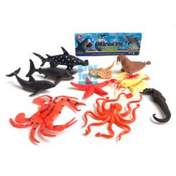 Marine Life World 10 pcs   Mainan Hewan Laut Karet
