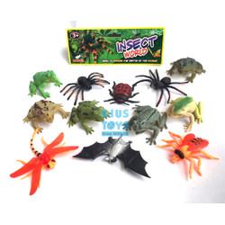 Insect World Model 12 pcs   Mainan Serangga Karet Pencet