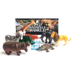 Animal World 8 pcs   Mainan Binatang Karet Mini