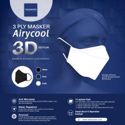 Baru! Masker Kain Airycool 3D Dewasa Anti Mikrobial dan Air (10 pcs) - Navy