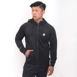 Jaket Olahraga Mills , Style : Sonic Hoodie Jacket , Code : 8002 Black - Hitam, XXL