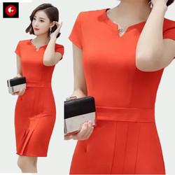 Okechuku SOENA Midi Dress Wanita Korea / Body Fit Dress / Baju Pesta