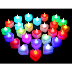 Lilin Mini LED Bentuk Love Electric Candle Light Lampu Dekorasi