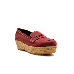WEDGES Stevie Espadrilles - Maroon 4cm