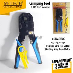 M-TECH ORIGINAL Crimping Tool 3 in 1 Modulator For RJ45 / RJ12 / RJ11