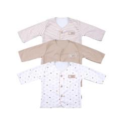 FLUFFY Baju Lengan Panjang Neci (Isi 3Pcs) Bjan KKI Newborn