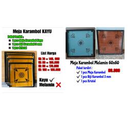 Meja Karambol Melamin 60x60 (set)