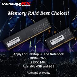 VENOM RX VENOMRX MEMORY RAM 8GB (1x8GB) DDR4 2666MHZ