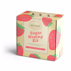 MIRAEL Sugar Waxing Kit Sugar Wax Hair Removal / Penghilang Bulu Rambu - Wax Strawbery