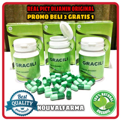 Gracili Asli Herbal Original Obat Diet Pelangsing Badan BPOM