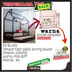 Ranjang anak perempuan tingkat, Tempat tidur anak tingkat duco pink